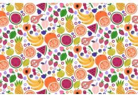 富有创意的五颜六色的水果图案背景_9173396