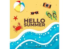 平淡的你好夏日背景_4289738