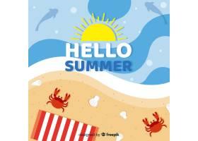 平淡的你好夏日背景_4302447
