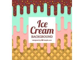 平面设计中的三味冰淇淋背景_1141377