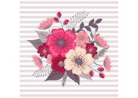 带有五颜六色花朵的花香成分_3046236