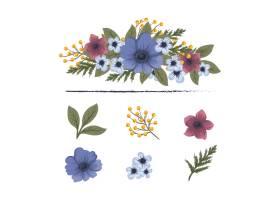 带有五颜六色花朵的花香成分_3189204