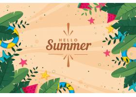 平面设计夏日背景_8300068