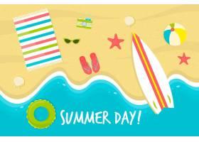带海滩的夏季壁纸_8509418