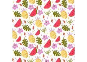 带有果实和树叶的热带模式_1130284