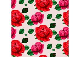 带有美丽玫瑰花的花卉图案_10126856