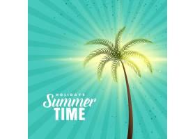快乐的夏日背景棕榈树_4725766