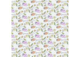 可爱的手绘帽子和花纹_897385