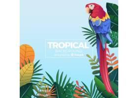 可爱的热带背景平面设计_2729512