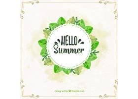 你好夏天的背景和植物的框架_2181315