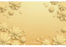 3D样式的金色花朵背景_5183148