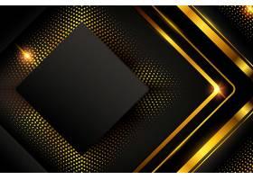 带有形状和金色线条的深色背景_8850842