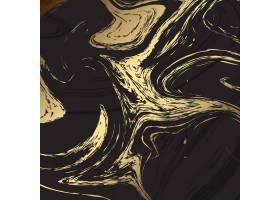优雅的背景黑色和金色的大理石质地_2602862