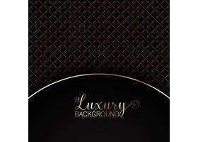 优雅的黑色背景带有金色元素_1075086