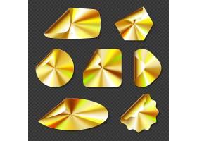 全息金色贴纸带有金色渐变纹理的标签_13196091
