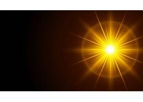 具有发光光线效果的黑色背景_13124458