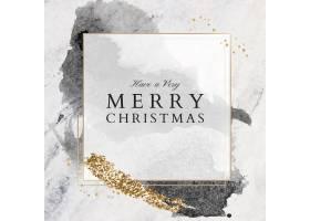 有一张非常快乐的圣诞贺卡覆盖在大理石表_11563799