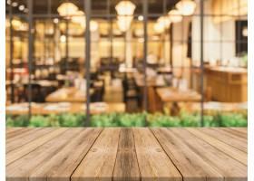 餐厅背景模糊的木板_973018