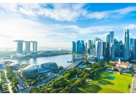 新加坡城市天际线中的城市景观_4011577