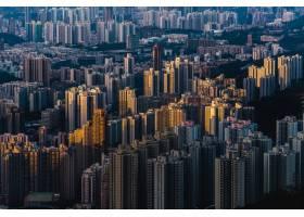 空中拍摄美丽天空的城市现代建筑_13361685