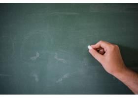 空白黑板黑板绿色粉笔板上手写手持粉_1191773