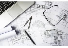 工程对象在工作场所俯视图上的图像建筑概_1239244