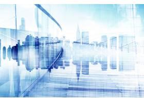 城市景观和摩天大楼的抽象视图_2760898