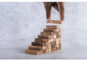 堆积木头积木在创造业务增长想法方面存在风_6170458