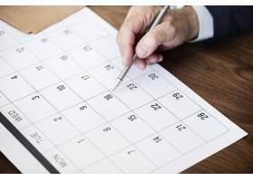 商人在日历上标出约会的记号_2767738