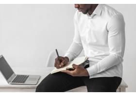 非洲裔美国人写正视图_11235015