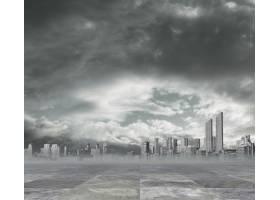 污染的城市背景_998343