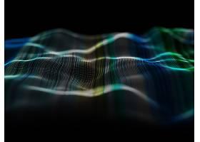 用流动粒子设计实现现代背景的3D渲染_11666325