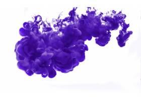 由颜色溶解在水中形成的抽象_1119913