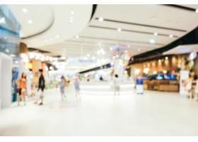 抽象模糊和波克散焦的百货公司商场内部_1254833