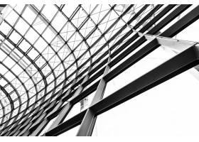 抽象玻璃窗屋顶建筑外墙_4011585
