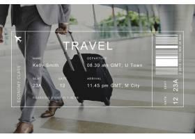 旅客背景上的航班详细信息横幅_3532775