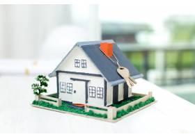 有房型和钥匙的房地产_5519371
