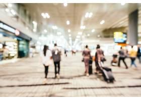 樟宜机场航站楼内部抽象模糊散焦_4011606