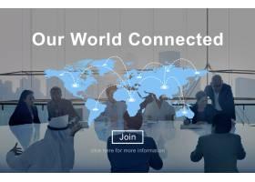 我们的世界互联社交网络互联概念_2789111