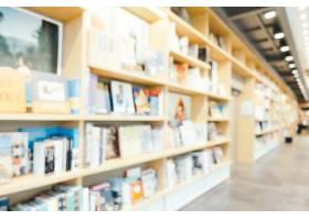 抽象模糊和散焦的图书馆和书店内部_1254431
