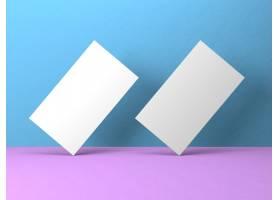 彩色背景上的空白名片模型_1167792