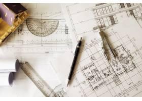 工程对象在工作场所俯视图上的图像建筑概_1238631
