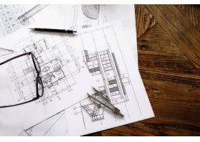 工程对象在工作场所俯视图上的图像建筑概_1238637