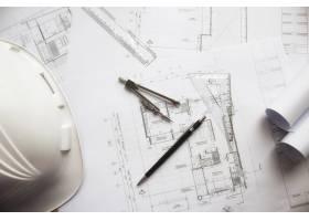 工程对象在工作场所俯视图上的图像建筑概_1239496