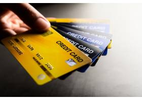 多个信用卡手机的特写图像_5469617