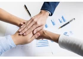 团队合作力量成功的商务会议工作场所概念_1202382
