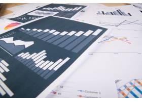 商业报告图形和图表商业概念_1275493