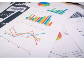 商业报告图表和图表商业报告和成堆的文_1275494
