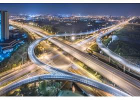 上海立交桥夜景鸟瞰_1119482