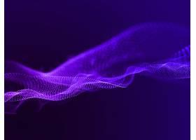 具有流动粒子的抽象背景的3D渲染_12996476